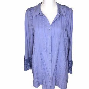 Soft Surroundings Cordelia Front Button Shirt